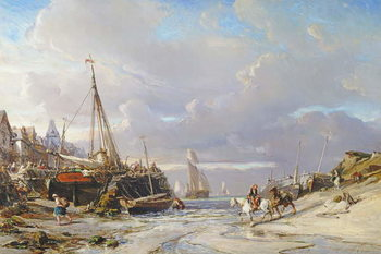 Port en Bretagne, 1861 Canvas Print