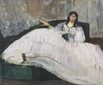 Portrait of Jeanne Duval, 1862 Canvas Print