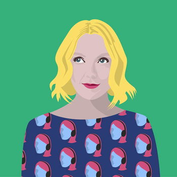 Portrait of Lauren Laverne Canvas Print