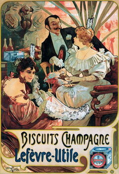 Canvas Print Poster advertising Biscuits Champagne Lefèvre-Utile