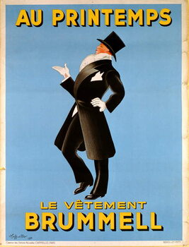 Poster advertising 'Brummel' clothing for men at 'Printemps' department store, 1936 Canvas Print