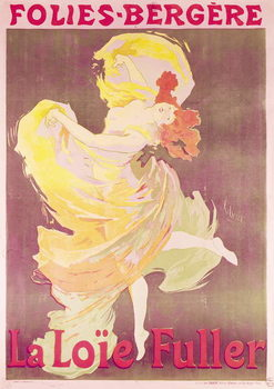 Poster advertising Loie Fuller (1862-1928) at the Folies Bergere, 1897 Canvas Print
