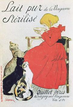 Poster advertising 'Pure Sterilised Milk from La Vingeanne' Canvas Print