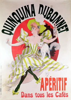 Poster advertising 'Quinquina Dubonnet' aperitif, 1895 Canvas Print