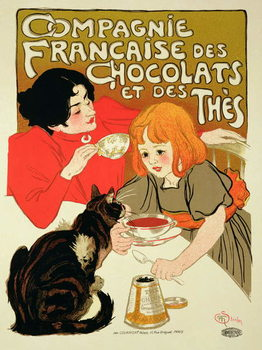 Poster Advertising the French Company of Chocolate and Tea Canvas Print