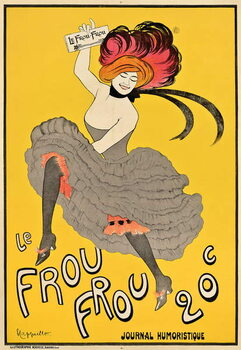 Poster advertising the French journal 'Le Frou Frou', 1899 Canvas Print