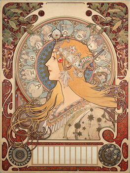 "Canvas Print Poster by Alphonse Mucha (1860-1939) for the magazine ""La plume"""""