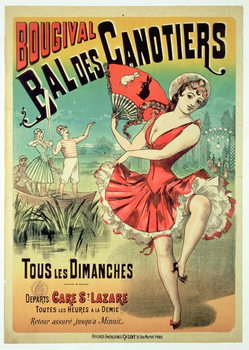 Poster for the 'Bal des Canotiers, Bougival' Canvas Print