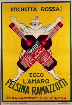 poster for the drink  Amaro (Amer) felsina Ramazzotti, 1926 Canvas Print
