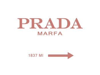 Canvas Print Prada marfa peach