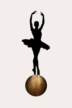 Canvas Print Prima Ballerina GOLD