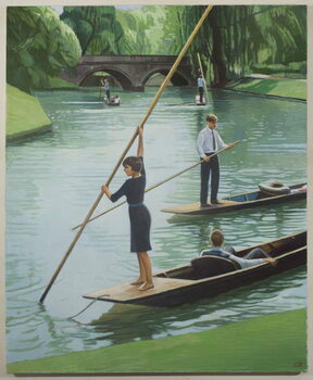 Punting on the Cam, 2010 Canvas Print