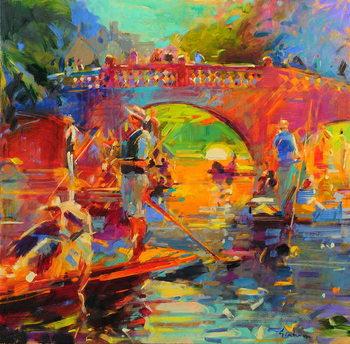 Punts, Clare Bridge Canvas Print
