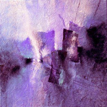Canvas Print purple tidal rhythms