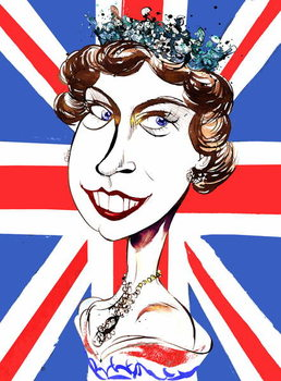 Queen Elizabeth II   , young  by Neale Osborne Canvas Print