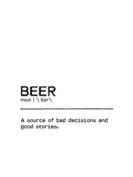 Canvas Print Quote Beer Stories