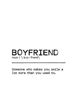 Canvas Print Quote Boyfriend Smile