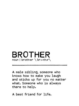 Canvas Print Quote Brother Best Friend