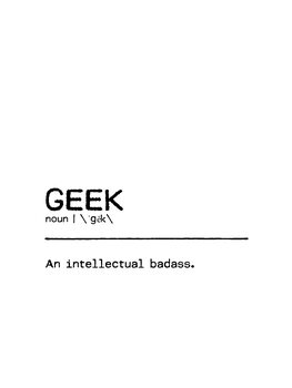 Canvas Print Quote Geek Badass
