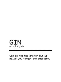 Canvas Print Quote Gin Question