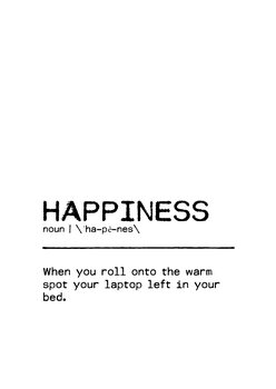 Canvas Print Quote Happiness Laptop