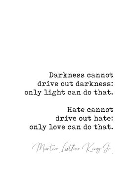 Quote Luther King jr. Canvas Print