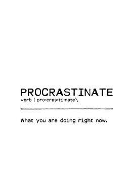 Canvas Print Quote Procrastinate Now