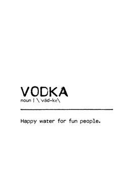 Canvas Print Quote Vodka Fun