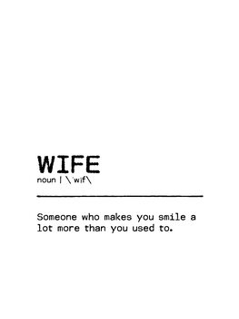 Canvas Print Quote Wife Smile