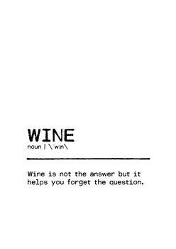 Canvas Print Quote Wine Question