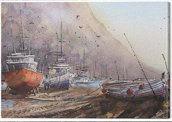 Canvas Print Rajan Dey - Docked