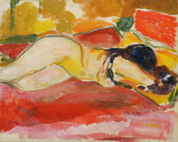 Reclining Female Nude, 1912/13 Canvas Print