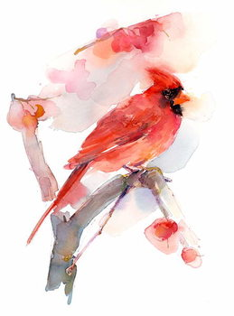 Canvas Print Red cardinal, 2016,
