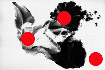 Red dots on flowers, 2019, Canvas Print