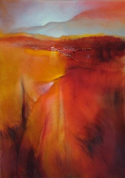 Canvas Print Red land