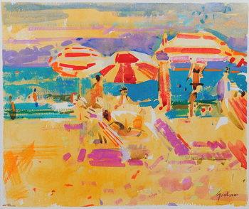 Red Parasols, Miami Canvas Print
