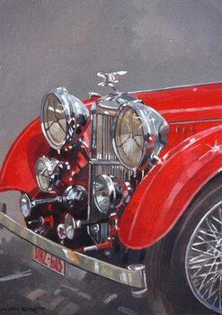 Red Sp.25 Alvis Canvas Print