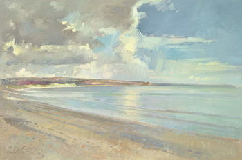 Reflected Clouds, Oxwich Beach, 2001 Canvas Print