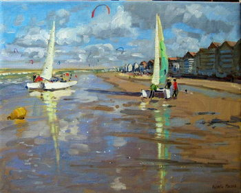 Reflection, Bray Dunes, France Canvas Print