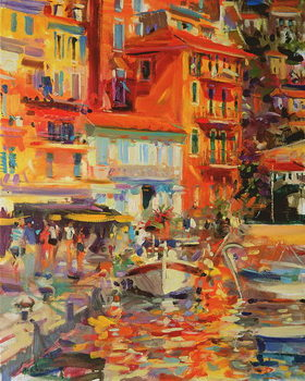 Reflections, Villefranche, 2002 Canvas Print