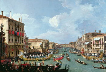 Regatta on the Grand Canal Canvas Print