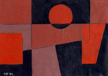 Related Reds with Black, 1999 Canvas Print