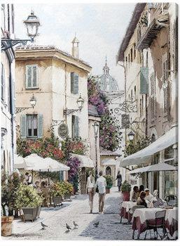 Richard Macneil - Café Stroll Canvas Print