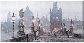 Canvas Print Richard Macneil - Charles Bridge 2 cm - 60x30 cm