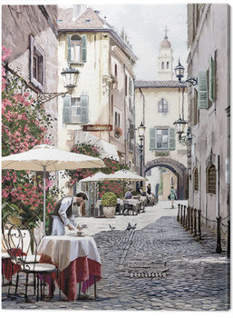 Richard Macneil - Cobbled Street Canvas Print