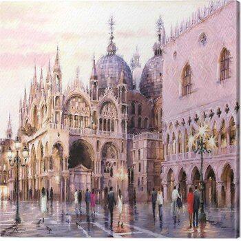 Canvas Print Richard Macneil - Evening Light on St. Marks Square