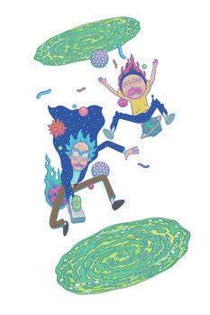 Canvas Print Rick and Morty - Big fall