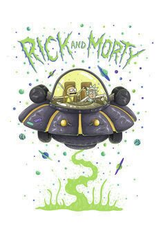 Canvas Print Rick and Morty - Spaceship