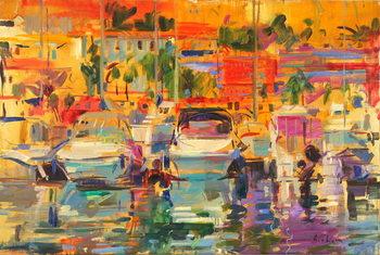 Riviera Harbour Sun Canvas Print