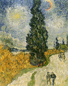 Road with Cypresses, 1890 Canvas Print